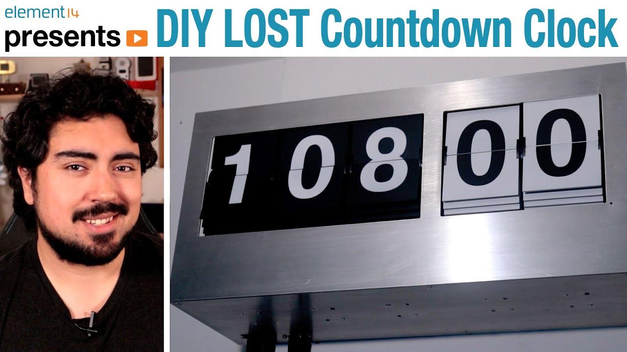 DIY LOST Swan Station Split Flap Display Timer