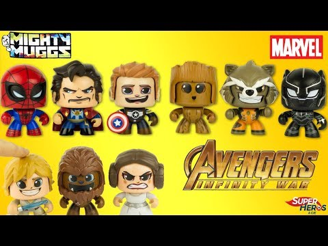 Marvel Mighty Muggs Avengers Infinity War Super Heroe Figures Captain America Spider Man Hasbro