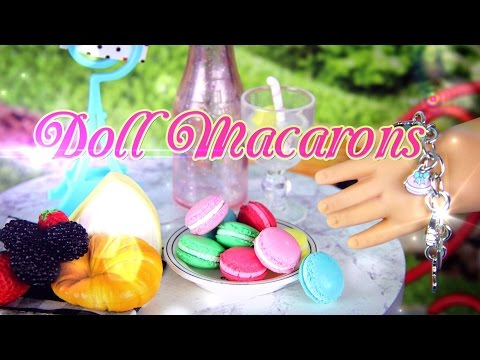 DIY - How to Make:  Doll Macaron - FRENCH DESSERT, COOKIE, CAKE - Handmade - Doll - Crafts