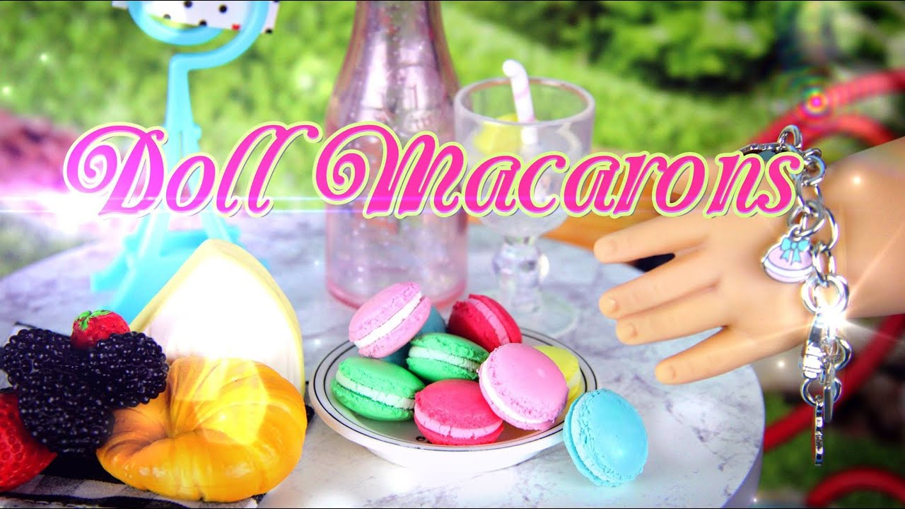 Barbie Girl Doll Wallpaper Diy How To Make Doll Macaron French Dessert Cookie