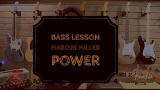 Bass Lesson Marcus Miller - Power -