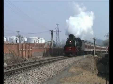 Chinese steam - Pingdingshan passenger trains! JS 8065 & 6225