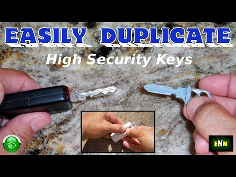 "How To EASILY Copy Duplicate Any ""Do Not Copy"" High Security Key"