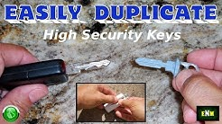 How To EASILY Duplicate High Security Keys
