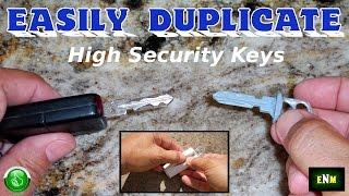 """How To EASILY Copy Duplicate Any """"Do Not Copy"""" High Security Key"""
