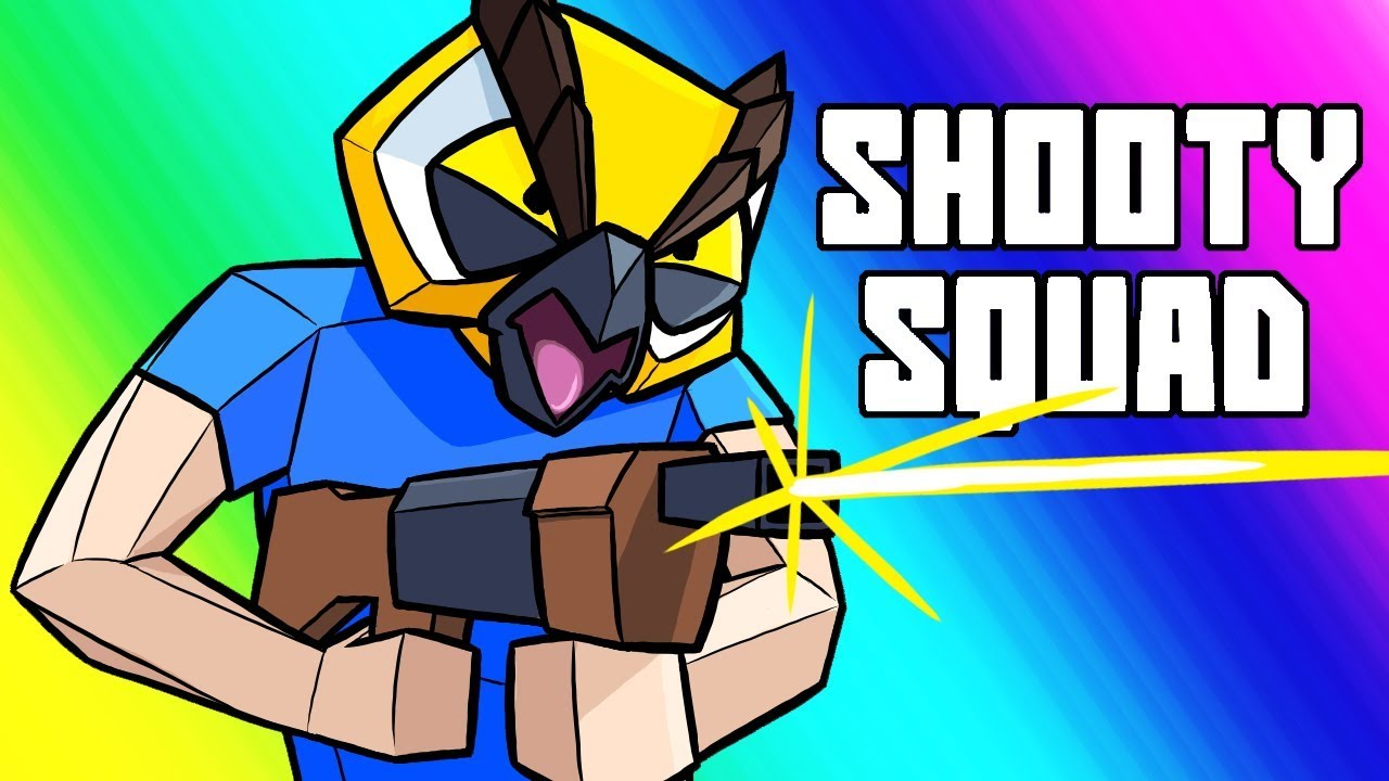 Shooty Squad Funny Moments - Raging Tryhard Match!! #1