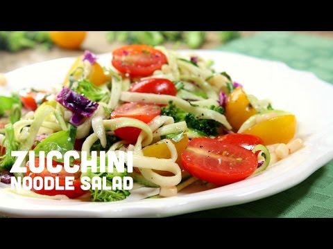 Tasty zucchini noodle salad