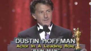"Dustin Hoffman winning an Oscar® for ""Rain Man"""