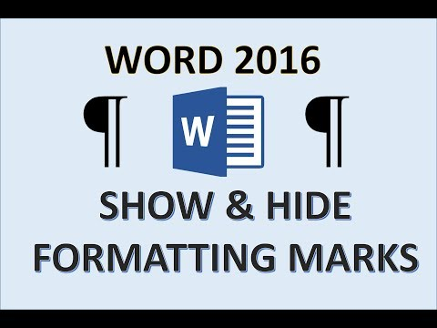 Word 2016 - Formatting Marks - How To Show And Hide Paragraph And Space Markers & Symbols In MS 365