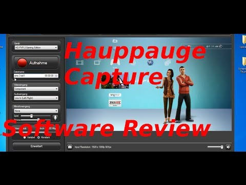 Review Hauppauge Capture Software (German/Deutsch)