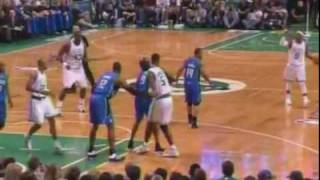 Kevin Garnett punches Dwight Howard's forearm Magic vs Celtics Eastern Conference Finals Game 6