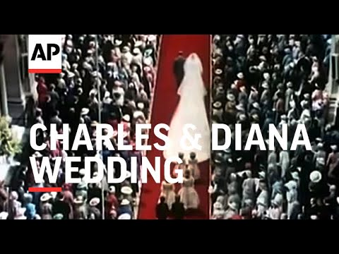 Movietone 35mm Footage of Wedding of Prince Charles and Lady Diana Spencer - 1981