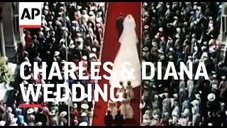 Movietone 35mm footage of wedding of Prince Charles and Lady Diana Spencer 1981