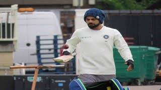 Watch: What was Kohli doing at practice in Trent Bridge for his stiff back?