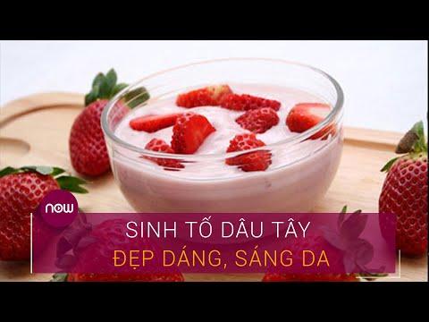 Bí kíp pha sinh tố dâu tây đẹp dáng, sáng da | VTC Now