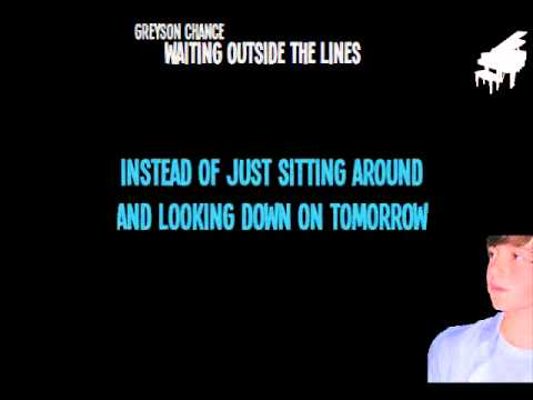 Greyson Chance Waiting Outside The Lines Karaoke - Sing With Greyson!!!
