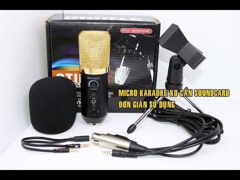 Micro Karaoke MK-F400 ko cần soundcard Âm Thanh chuyên nghiệp (hàng chưa từng có tại VN )