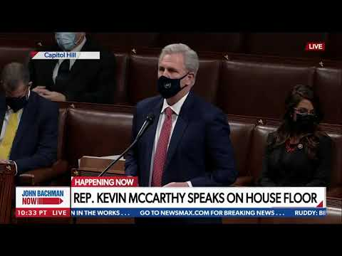 McCarthy: This is a mistake, Trump not free from fault