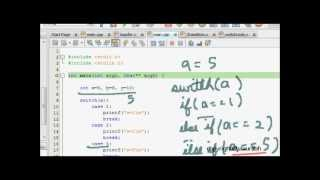 C Programming Tutorial: Switch Statement (Conditional Execution, Cases, Default)