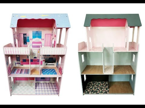 DIY Doll House Renovation Project - Easy kids art project
