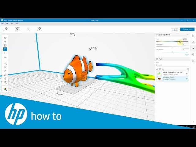 Jak przygotować kolorowe modele do druku 3D - programy HP SmartStream 3D, Build Manager