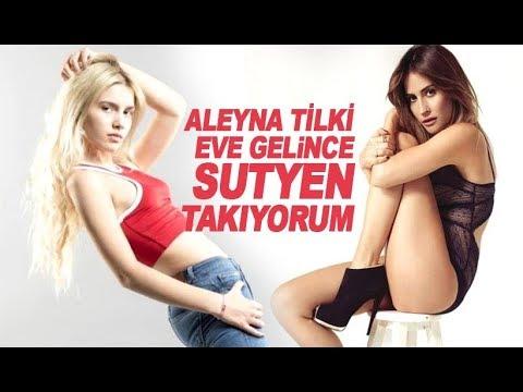 Aleyna Tilki Sütyensiz yakalandı! Video Haber