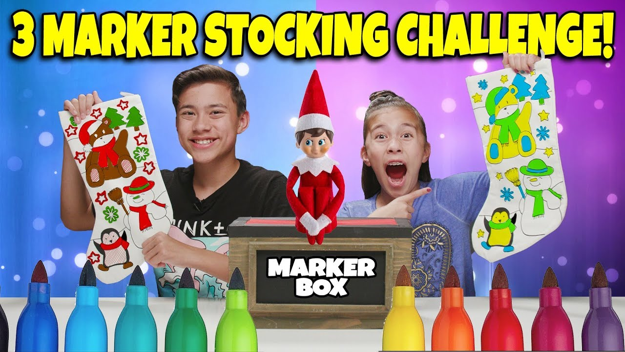 3 MARKER CHALLENGE - CHRISTMAS STOCKING EDITION!!!