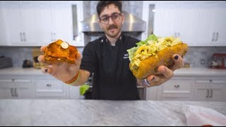 making a maine lobster roll...but without lobster