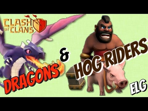 Clash of Clans Dragon And Hog Riders Attack Strategy Gameplay | Subscriber Submitted Raid!!
