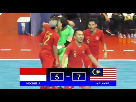 Highlights Indonesia Vs Malaysia (5-7) AFF Futsal Championship 2018