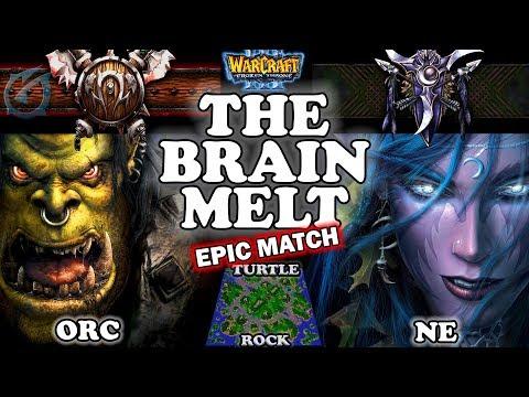 Grubby | Warcraft 3 TFT | 1.29 | ORC v NE on Turtle Rock - The Brain Melt