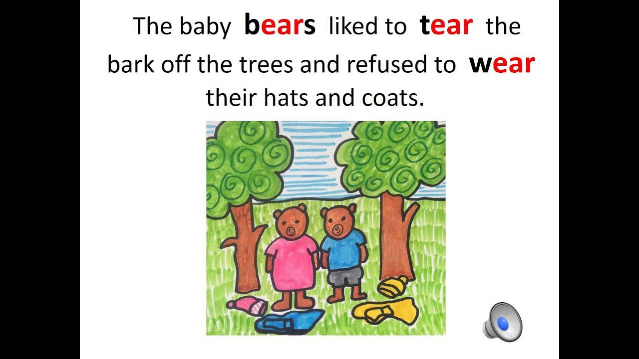 Spellbypatterns Spelling The Ear Sound As In Bear