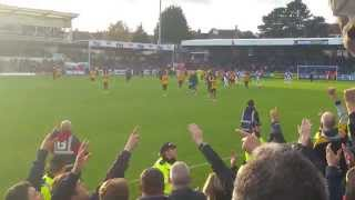 Newport County v Bristol Rovers away last few mins