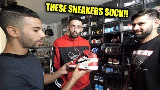 YOUTUBERS ROAST MY SNEAKER COLLECTION!! (ADAM SALEH AND SLIM)