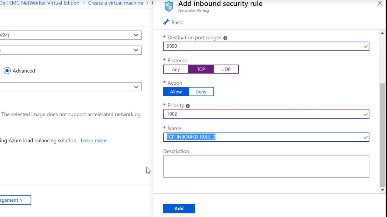 Dell EMC NetWorker Deployment in Microsoft Azure