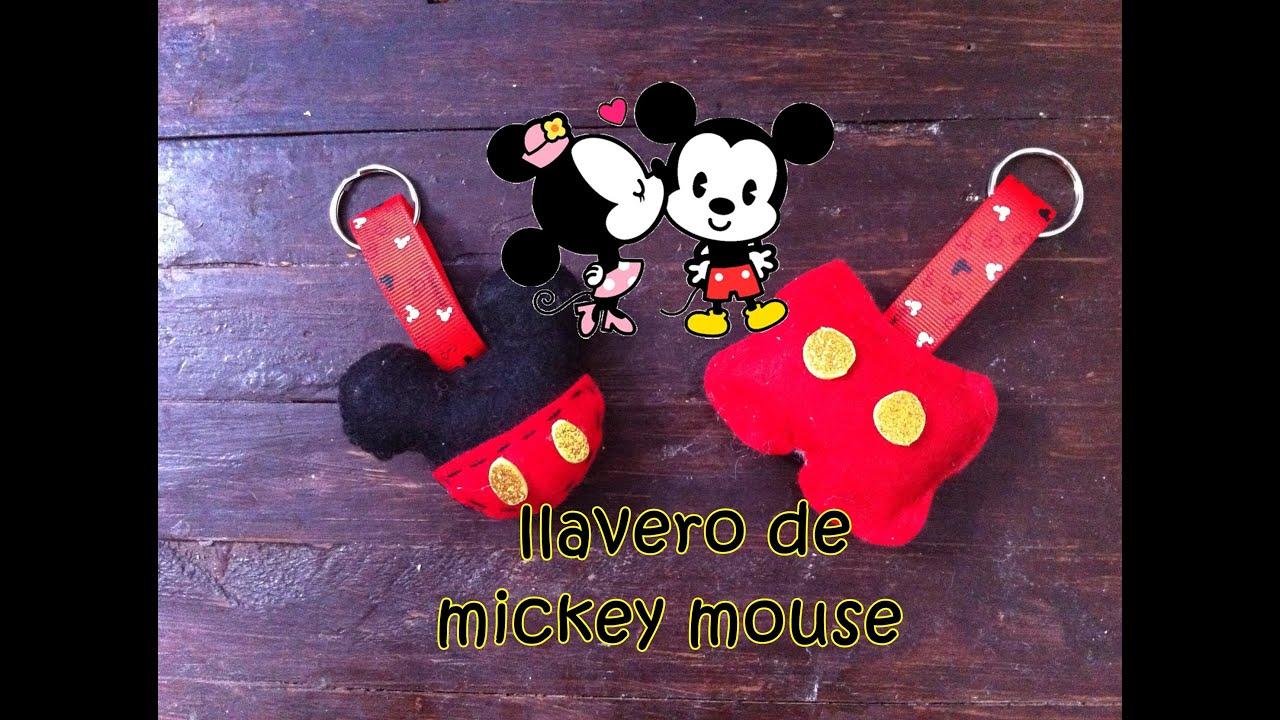 DIY Llavero de Mickey Mouse