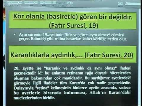 HARUN YAHYA TV - KURAN MUCİZELERİ; KURANDA RETİNA KELİMESİ.mp4
