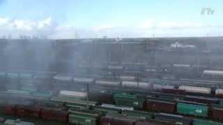 Een reuzebrandblusser voor treinen in Antwerpen