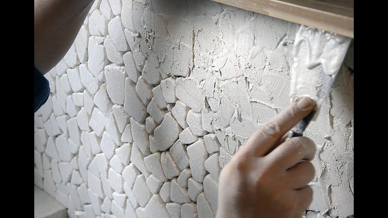 Mozaiek Tegels Plaatsen : Mozaiek voegen muur of wand youtube