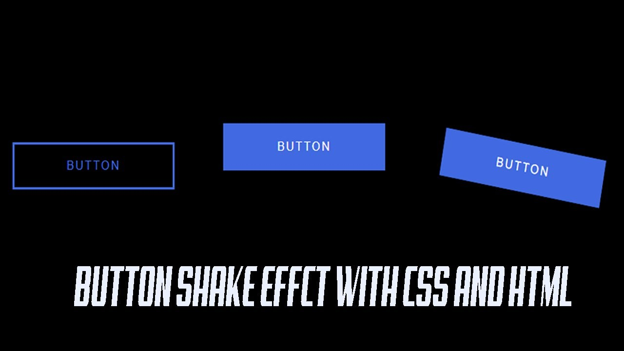 button shake effect with css on hover