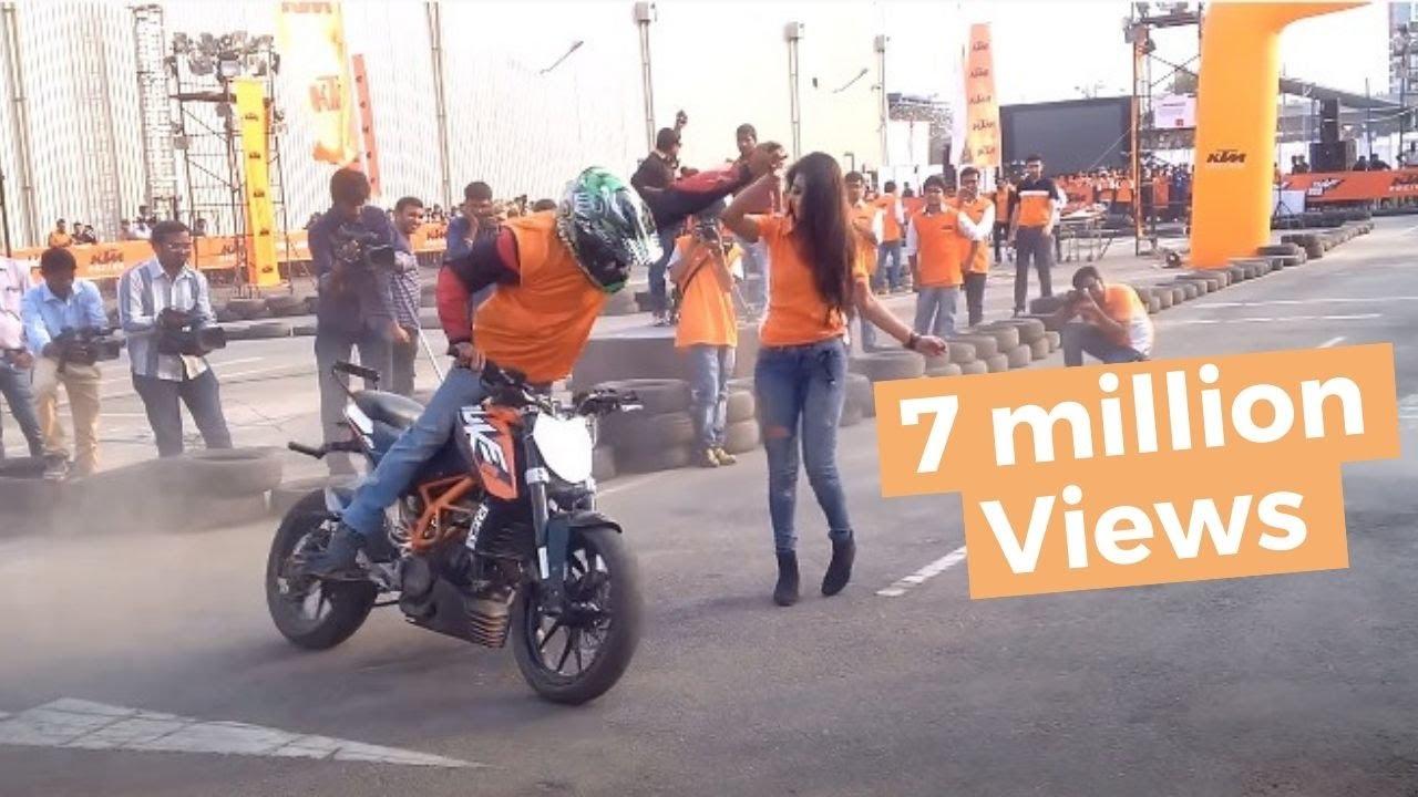 Ktm Duke Bike Hd Wallpaper Ktm Orange Day Stunt Show February 2016 Hyderabad Youtube