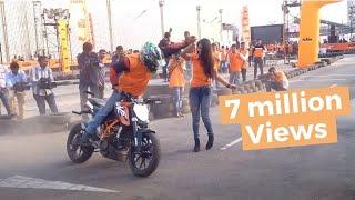 KTM orange day stunt show- february 2016 hyderabad