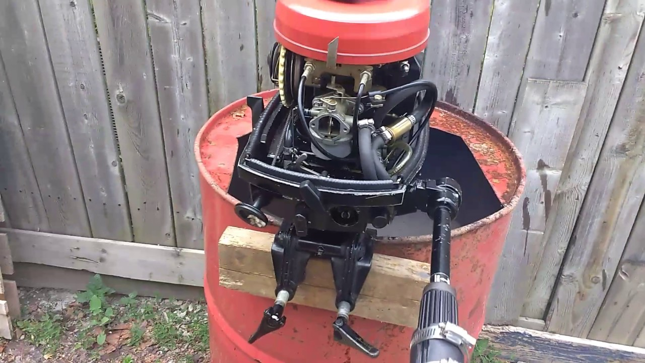 Mercury Gnat 4 Hp 2 Stroke Outboard With Homemade Tiller Extension And