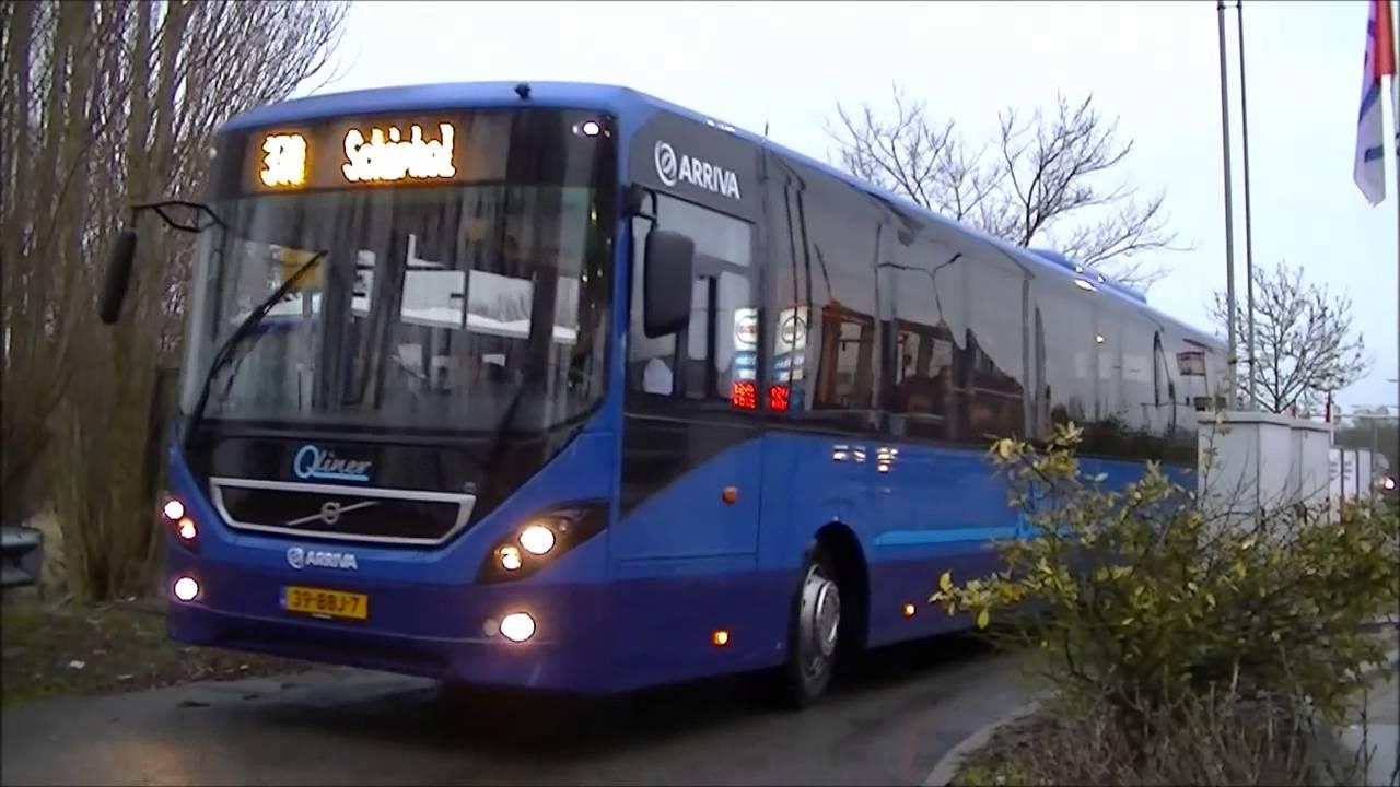 Arriva Volvo 8900 tandemasser Qliner (7771) te Leimuiden - YouTube