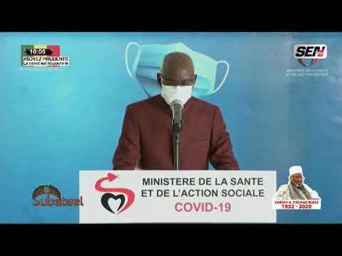 Communiqué du Ministère de la santé de ce jeudi 6 Aout 2020