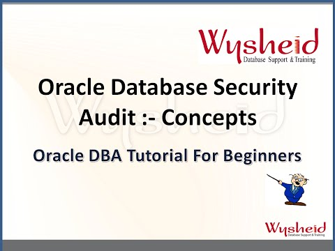 Oracle Database Audit  Concepts | Oracle database security | Security in Oracle 11g Database