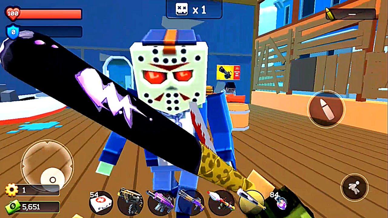 Pixel Combat: Zombie Strike - Bat vs All Zombies