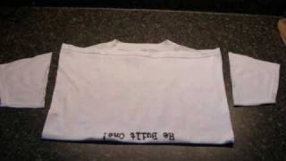 Make Prefold Cloth Diapers From Old T-shirts Charity Missionary Recycle Green