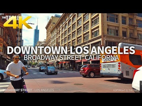 LOS ANGELES - Broadway Street, Downtown Los Angeles, California, USA, Travel, 4K UHD