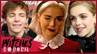 Chilling Adventures of Sabrina: Kiernan Shipka Spills on Hair, Harvey & Season 2! | Witches Council